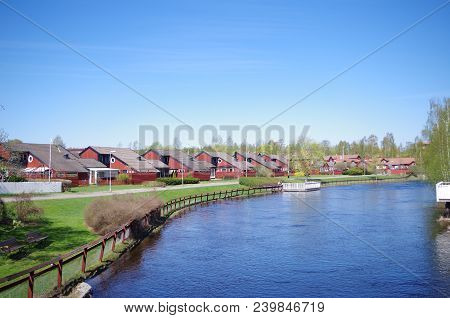 A Residential Area In The City Of Falun In Dalarna