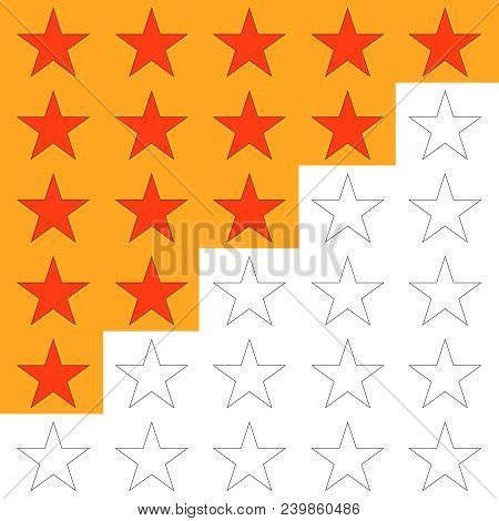 Ranking, Rating Five Stars, To Rank. Flat Design, Vector Illustration, Vector.