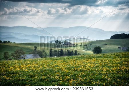 An image of a beautiful view landscape south Germany
