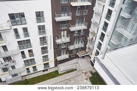 Modern, Luxury Apartment Building. Apartment Building, Real Estate Retirement Investment Property To