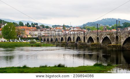 Ponte De Lima, Portugal - May 2, 2018 : Ponte De Lima Is Characterized By Its Medieval Architecture