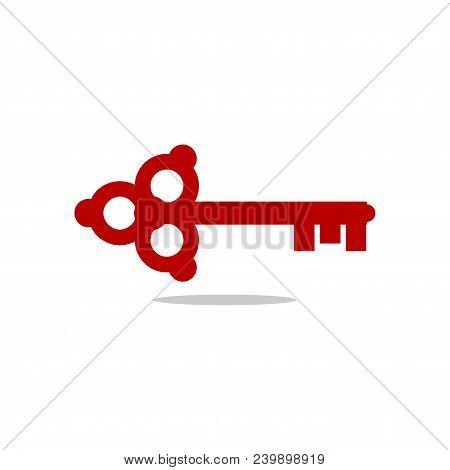 Key Icon, Key Symbol, Key Logo In Flat Style. Vector Template Ready For Use