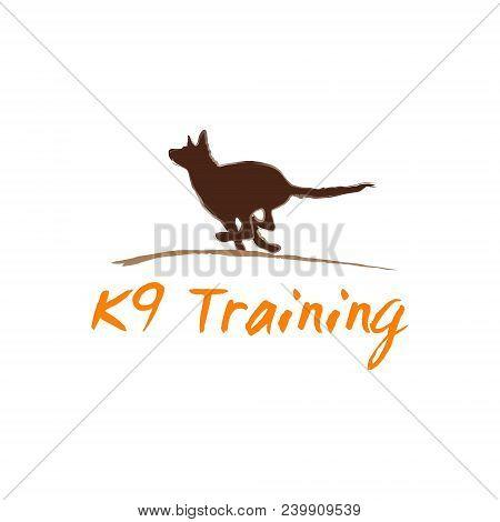 K9 Dog  Vector Illustration In Brown And Orange Color