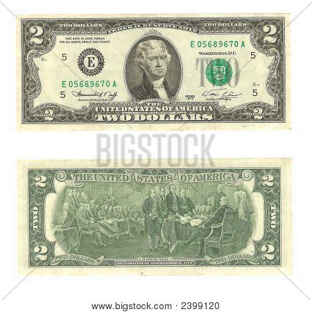 American Two Dollar Bill
