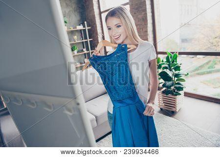 I Want To Wear This Elegant Beautiful Blue Dress! Pretty Smiling Happy Excited Joyful Delightful Blo