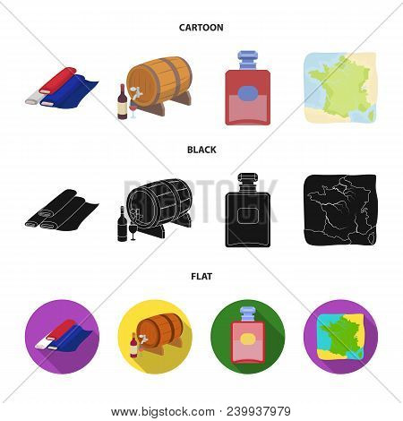 France, Country, Nation, National .france Country Set Collection Icons In Cartoon, Black, Flat Style