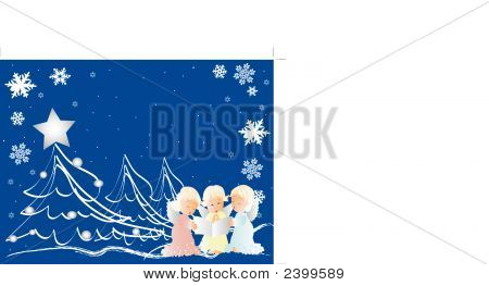 Little Cherubs Singing Christmas Carols