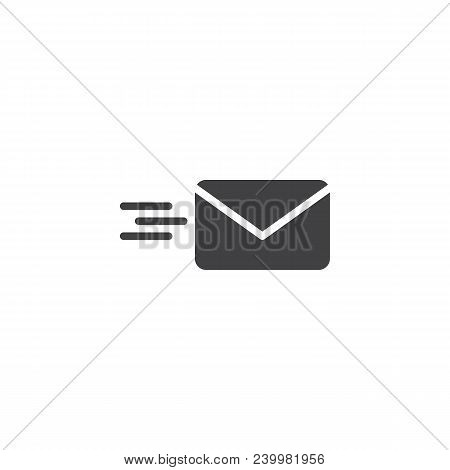 Sending Mail Vector Icon. Filled Flat Sign For Mobile Concept And Web Design. Flying Envelope Simple