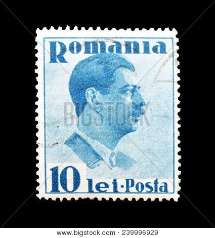 Romania - Circa 1936 : Cancelled Postage Stamp Printed By Romania, That Shows King Karl.