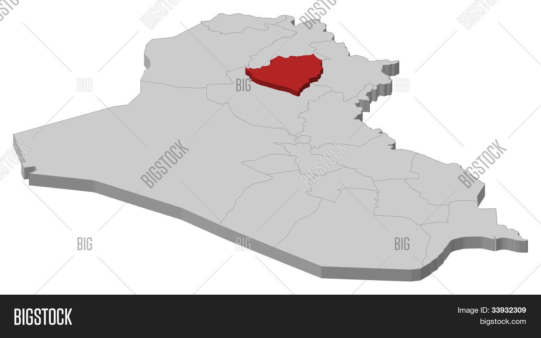 Map Iraq, Kirkuk Image & Photo (Free Trial) | Bigstock