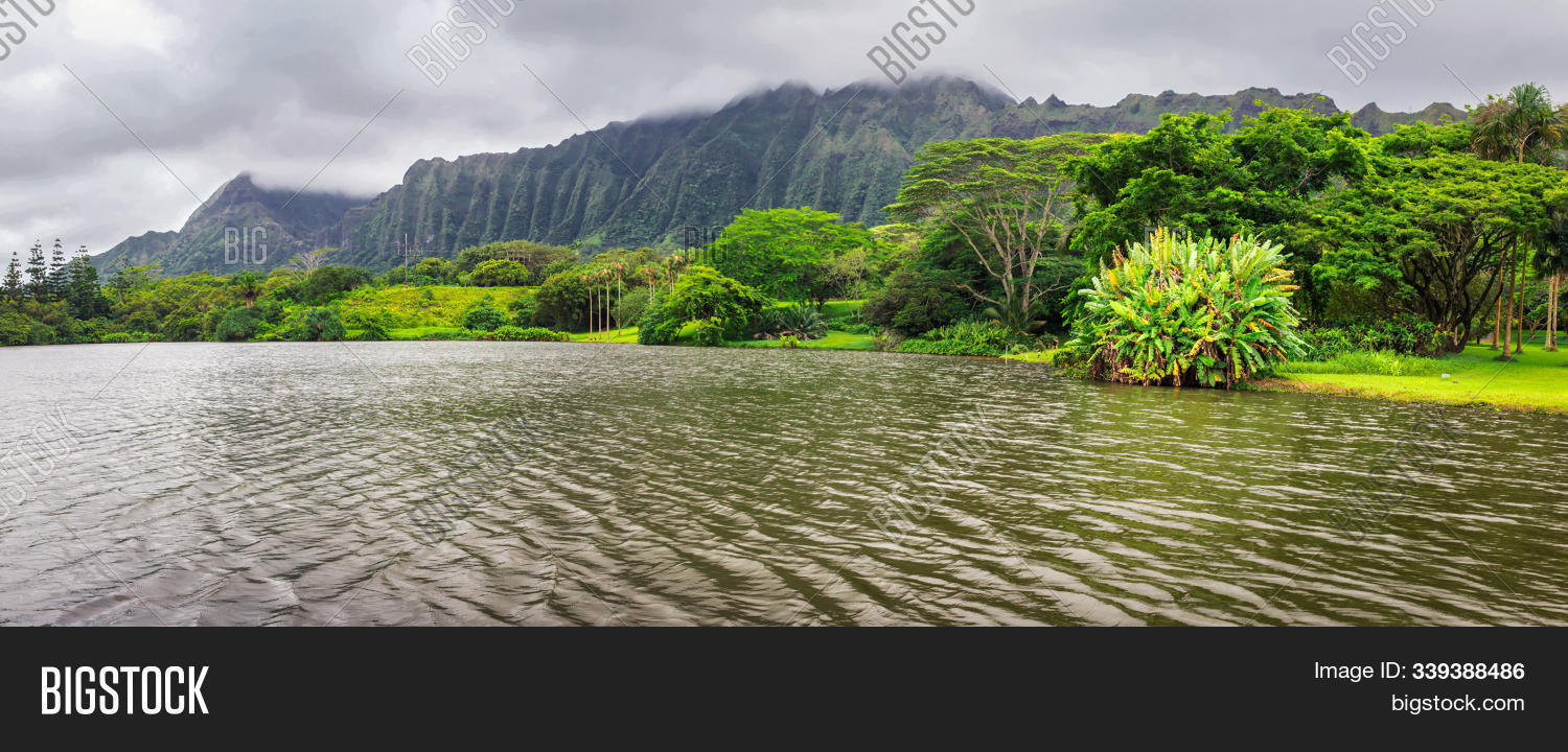 Panoramic View Lake Image Photo Free Trial Bigstock
