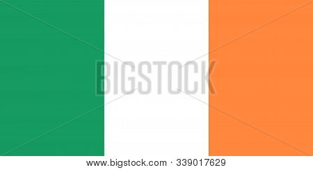 Ireland Flag. Official Flag Of Ireland. Vector Illustration.