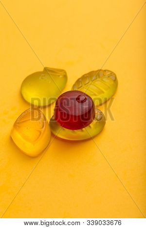 Macro Marmalade On A Yellow Paper Background