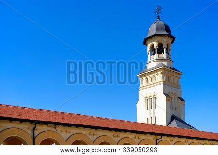 Alba Iulia medieval stronghold, famous landmark in Transylvania, Romania, Europe