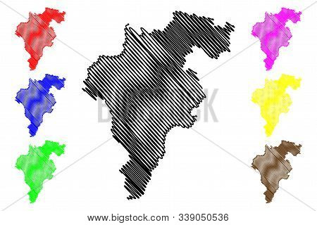 Carlow County Council (republic Of Ireland, Counties Of Ireland) Map Vector Illustration, Scribble S
