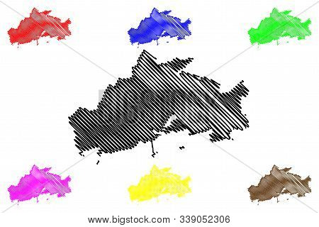 Galway City Council (republic Of Ireland, Counties Of Ireland) Map Vector Illustration, Scribble Ske