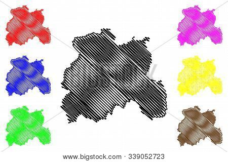 Laois County Council (republic Of Ireland, Counties Of Ireland) Map Vector Illustration, Scribble Sk