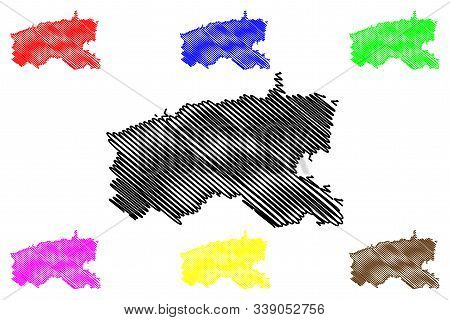 Limerick City And County Council (republic Of Ireland, Counties Of Ireland) Map Vector Illustration,