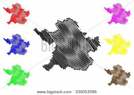 Meath County Council (republic Of Ireland, Counties Of Ireland) Map Vector Illustration, Scribble Sk