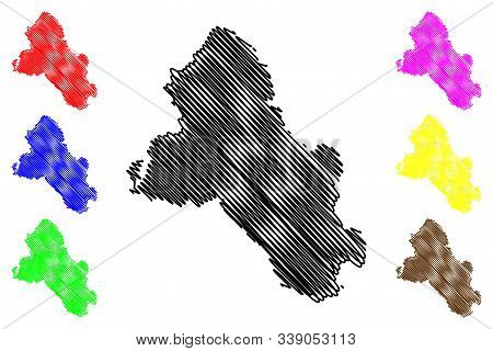 Monaghan County Council (republic Of Ireland, Counties Of Ireland) Map Vector Illustration, Scribble
