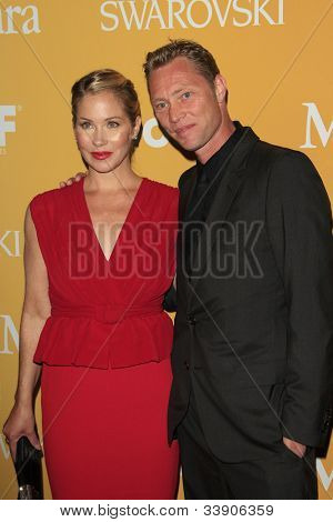BEVERLY HILLS - JUN 12: Christina Applegate, Martyn LeNoble at the 2012 Women In Film Crystal + Lucy Awards held at The Beverly Hilton Hotel on June 12, 2012 in Beverly Hills, California