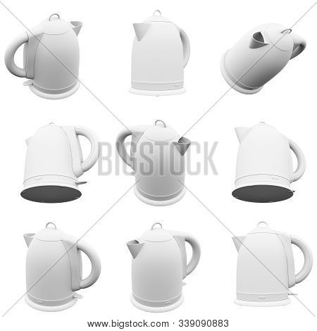 Teapot Isolated On The White Background 3d Rendering