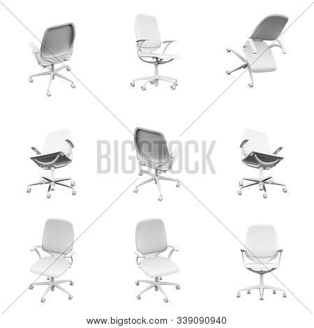 Office Chair Isolated On The White Background 3d Rendering