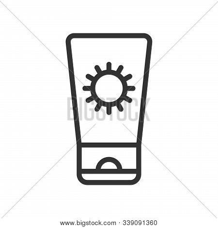 Suntan Cream Outline Ui Web Icon. Sunscreen Tube Vector Icon For Web, Mobile And User Interface Desi