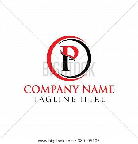 Circle Letter P Logo With Creative Modern Business Typography Vector Template. Creative Abstract Let