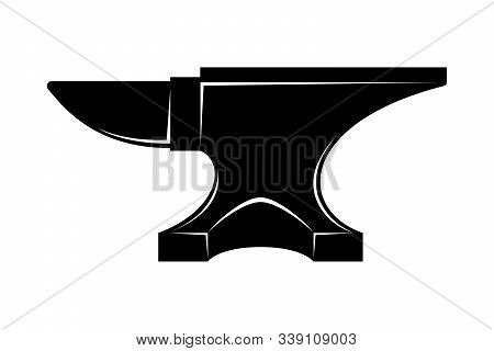 Anvil For Blacksmith Graphic Icon. Anvil From Smithy Sign Isolated On White Background. Heavy Indust