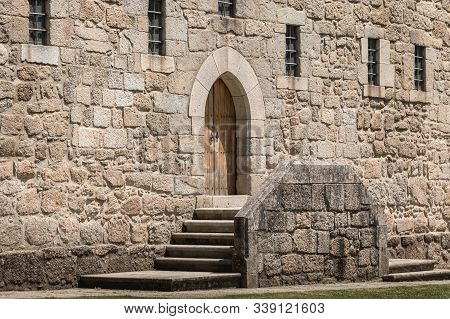 Architectural Detail Of The Palace Of The Dukes Of Braganza In Guimaraes, Portugal
