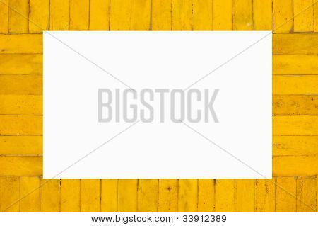 The Yellow Wooden Picture Frame