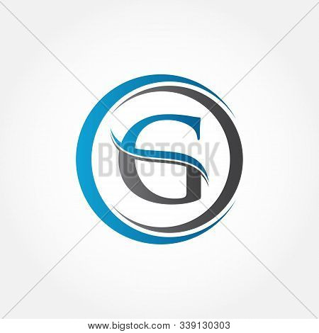 Circle Letter G Logo With Creative Modern Business Typography Vector Template. Creative Abstract Let