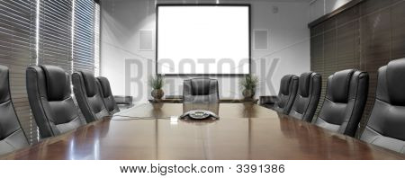 Empty Corporate Conference Room