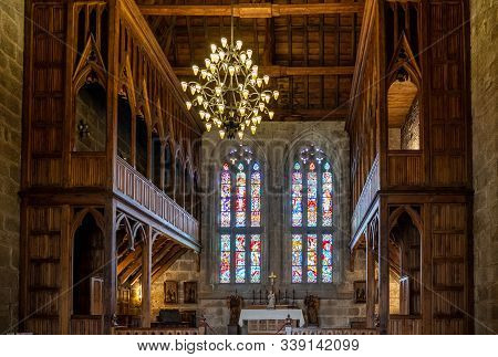 Guimaraes, Portugal - 18 August 2019: Chapel Inside The Palace Of The Dukes Of Braganza In Guimaraes