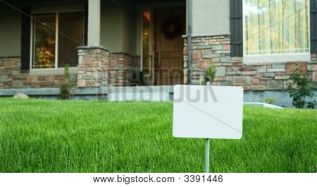 House For Sale Or Foreclosure, Or Security Sign