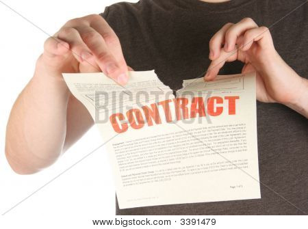 Ripping Up A Contract/Promise/Deed