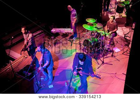 El Puerto De Santa Maria, Spain - Apr 24: Concert Of The Group Of Indie Pop, Champagne On Apr 24, 20