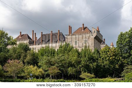 Exterior Walls Of The Palace Of The Dukes Of Braganza In Guimaraes In Northern Portugal