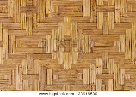 The Pattern Of The Old Woven Bamboo Wall