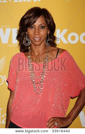 LOS ANGELES - JUN 12:  Holly Robinson Peete arrives at the City of Hope's Music And Entertainment Industry Group Honors Bob Pittman Event at Beverly Hilton Hotel on June 12, 2012 in Beverly Hills, CA