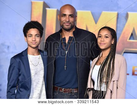 LOS ANGELES - DEC 09:  Boris Kodjoe, Nicolas Kodjoe and Sophie Kodjoe arrives for the 'Jumanji: The Next Level' Los Angeles Premiere on December 09, 2019 in Hollywood, CA