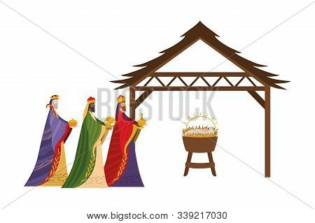 Happy Epiphany Day Design, Religion Christianity God Faith Spirituality Belief And Pray Theme Vector