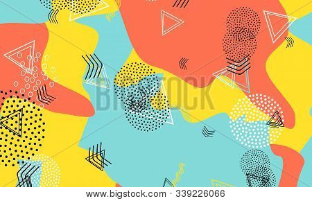 Geometric Coral Wallpaper. Mustard Decorative Cover. Aqua Contemporary Artwork. Spotty Drawing. Baby