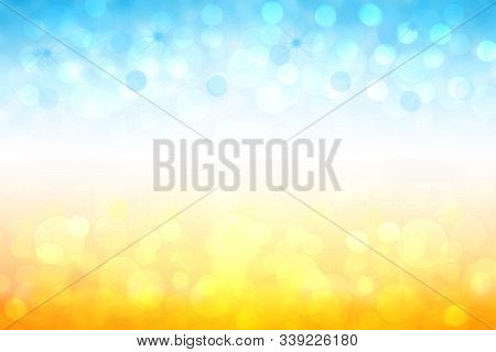 Abstract Bright Gradient Motion Spring Or Summer Landscape Texture Background With Natural Gold Yell