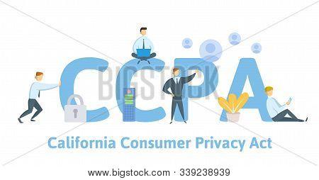 Ccpa, California Consumer Privacy Act. Usa Data Security, Consumer Personal Data Protection. Concept