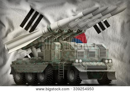 Tactical Short Range Ballistic Missile With Arctic Camouflage On The Republic Of Korea (south Korea)