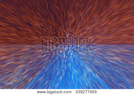 Abstract Background Blue Orange Terracotta Brown Color With Colorful Texture And Extrusion Effect An