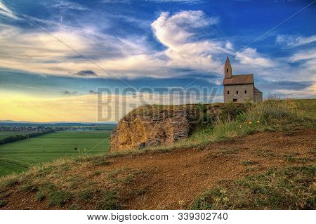 Medieval Church Of St. Michael The Archangel From 11th Century Near Nitra In Slovakia In Europe