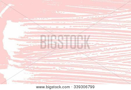 Grunge Texture. Distress Pink Rough Trace. Flawless Background. Noise Dirty Grunge Texture. Exceptio